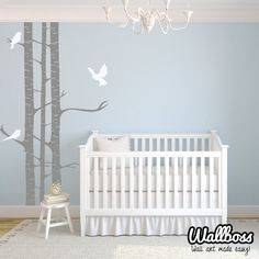 Children Birds And Birch Trees Wall Stickers  Kids  by Wallboss, £35.00