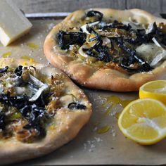 Black Trumpet, Leek, and Meyer Lemon Pizzettes