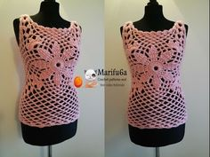 How to crochet pink quickly top free tutorial pattern by marifu6a - YouTube