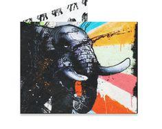 Elefung Wallet Artist Collective: Awake by Curbside Tyvek Wallet, Mighty Wallet, Best Wallet, Single Sheets, Beast, Cool Designs, Moose Art, Create, Artist