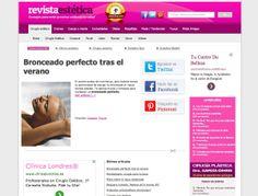 Revista estética - Publicación digital especializada. www.revistaestetica.es #web