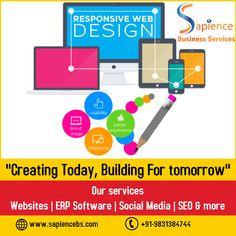 Sapience Business Services is an efficient website design company, offering responsive websites which can be accessed from any device i.e. desktop, laptop, tablet, mobile etc. #responsivewebsitedesigninkolkata #websitedesigninkolkata #mobilefriendlywebsitedesigninkolkata #websitedesignservices Agile Software Development, Web Development Agency, Website Development Company, Mobile Application Development, Custom Website Design, Website Design Company, Website Design Services, Best Seo Services, It Services Company