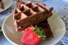 Mexican Chocolate Waffles [Vegan, Oil Free, Sugar Free]