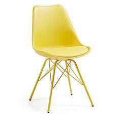 Καρέκλες   Kave Home White Leather Dining Chairs, Metal Chairs, Oversized Chair And Ottoman, Sweet Home, Garden Chairs, Kitchen Chairs, Egg Chair, Metallic Paint, Folding Chair