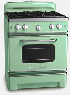 I mean, yeah, this is the third time we've toyed with the idea of buying one of these retro-inspired stoves.... I can't swallow the price tag but they're soooooo gorgeous! From Big Chill. Retro Kitchen Appliances, Vintage Appliances, Kitchen Stove, Kitchen Decor, Retro Kitchens, Decorating Kitchen, Paint Appliances, Pink Kitchens, Kitchen Ideas