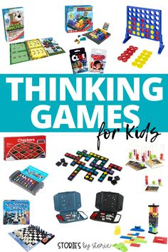 When kids play logic or strategy games, they are developing critical thinking skills. They find patterns, predict outcomes, and make on-the-spot decisions. This is great exercise for the brain. Here are some of our favorite games that build thinking skills. Many of these games could be used in the classroom, too! Card Games For Kids, First Grade Activities, The Game Is Over, First Grade Reading, Traditional Games, Critical Thinking Skills, Strategy Games, Classroom Fun, Family Games