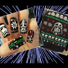 star wars ugly xmas sweater nails by Oli123 from Nail Art Gallery