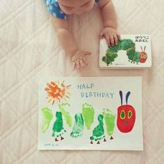 Children's craft idea - painting - very Hungry caterpillar
