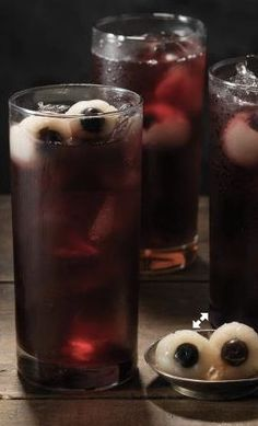 Blueberry Rickety Eyeball Punch - Blueberries and lychee eyeballs are ...