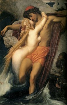 The Fisherman and the Syren, Lord Frederic Leighton, 1856-1858.