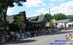 Line up on Main Street in Lake George, NY at Americade 2014 Main Street, Street View, Sound Of Thunder, Adirondack Mountains, Lake George, Small Towns, Maine, New York, New York City