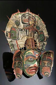 Transformation mask representing the sun, 1870-1910, Kwakwaka'wakw (Kwakiutl) peoples, BC, Canada