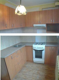 """Кухня угловая, ДСП """"Ольха горная"""". Размеры 1760х1830мм. Кухня теплая, аккуратная. Она сотоит из большого числа секций, что удобно и практично для любой хозяйки. Столешница удачно дополняет  собою дизайн помещения.  Стоимость 9900грн. (Северная Салтовка). Изготовление мебели для кухни на заказ. #кухня #эконом #мебель #мебельназаказ"""