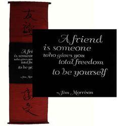 Inspirational Banners - Friendship, Jim Morrison | Topanien