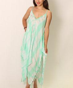 Loving this Mint Tie-Dye Handkerchief Dress - Women on #zulily! #zulilyfinds