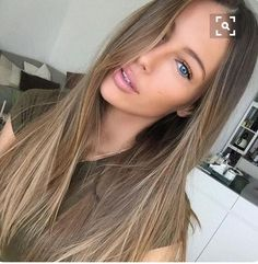Image result for long brown hair with wheat colored highlights