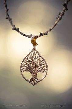 Tree of Life Pendant with Amber Moon <3