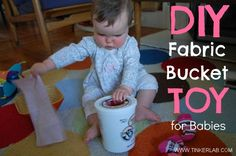 DIY Baby Fabric Bucket :: From Tinkerlab.com