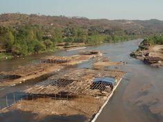 Río cerca de Julian Grajales, Distrito Chiapa de Corzo, Chiapas, Mexico