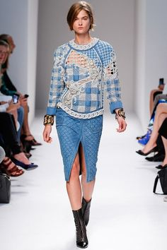 d5a36fbd Balmain Spring 2014 Ready-to-Wear Collection - Vogue Colourful Outfits,  Croquis,