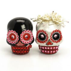 Skull Wedding Cake Topper A00156