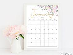 2021 Calendar Printable Calendar Botanical Calendar RG-1 | Etsy