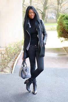 Sheinside Leather Sleeve Coat, Jonak Doddy Boots