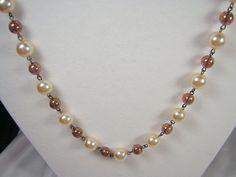 Vintage Bijoux NWT Czech Necklace Set Bohemian Designer Bead Pearl Jablonex Boho #BijouxdeBohemeExclusiveofJablonexCoRetired #BohemianNecklaceVintage