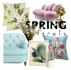 """spring"" by designer-carol ❤ liked on Polyvore featuring interior, interiors, interior design, home, home decor, interior decorating, National Tree Company, Safavieh, Kate Spade and Abigail Ahern"