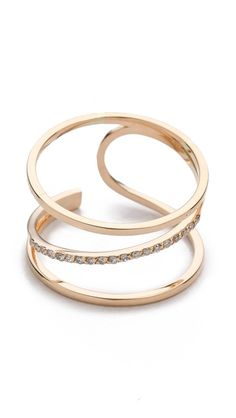 Kismet by Milka Lumiere Ring Love this!  I would round off the blunt edge and set it in platinum instead of rose gold.