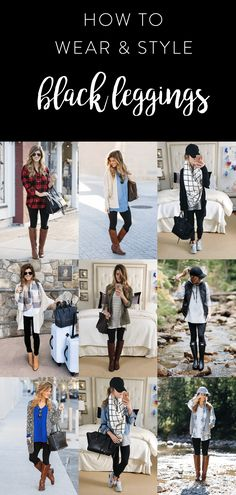 what to wear with leggings, how to wear leggings, 20+ outfit ideas with black leggings