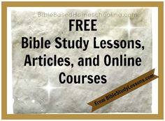 FREE Bible Study Lessons - This website has a ton of FREE bible study lessons, games, etc.