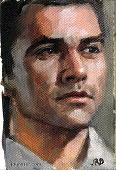 "Daily Paintworks - ""Jorge - Zorn Palette"" - Original Fine Art for Sale - © J. Dunster"