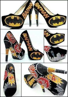 Batman heels... I NEED these. :P