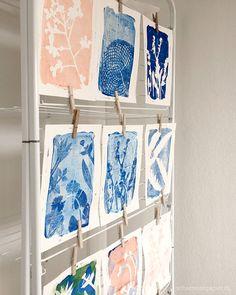 Workshop Gelatinedruck mit Pflanzen mit Pascale Treichler und Carmen von ein Schweizer Garten, schaeresteipapier