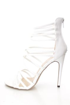 4 Inch White Heels | Tsaa Heel