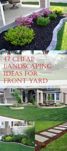 47 Cheap Landscaping Ideas For Front Yard Simple easy and cheap DIY landscaping ideas for front yards. The post 47 Cheap Landscaping Ideas For Front Yard appeared first on Outdoor Diy. Cheap Landscaping Ideas For Front Yard, Outdoor Landscaping, Backyard Ideas, Landscaping Front Of House, Front Yard Ideas, Luxury Landscaping, Plants For Landscaping, Front House Garden Ideas, Edible Garden