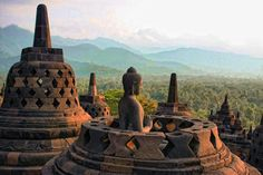 Borobudur Buddhist Temple, Java Indonesia