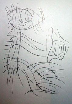 """Spiritello del fuoco"" 2012 Matita su carta 29,5x21 ©Pietro Gargano"