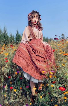 Set Fashion, Lolita Fashion, Fashion Dresses, Vintage Fashion, Fashion Women, Mori Girl, Mode Lolita, Character Outfits, Lolita Dress