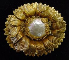 Miriam Haskell Large Baroque Pearl Brooch