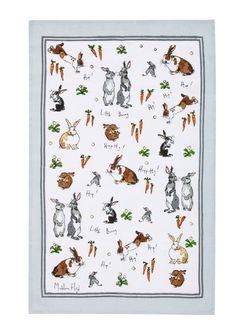 Ulster Weavers Bunny Linen Teatowel, Great pressie for Easter! Now Available in Moss Cottage, Dublin.