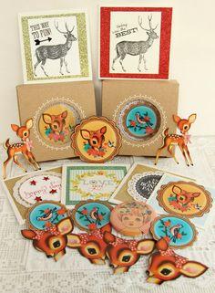 Quelques petites décorations pour Noël I love vintage deer.