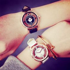 Buy InShop Watches Faux-Leather Cutout Strap Watch at YesStyle.com! Quality products at remarkable prices. FREE WORLDWIDE SHIPPING on orders over US$ 35.
