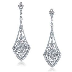 Bling Jewelry Great Gatsby Inspired Deco Teardrop Crystal Bridal Dangle Earrings - http://www.wonderfulworldofjewelry.com/jewelry/earrings/drop-dangle/bling-jewelry-great-gatsby-inspired-deco-teardrop-crystal-bridal-dangle-earrings-com/ - Your First Choice for Jewelry and Jewellery Accessories