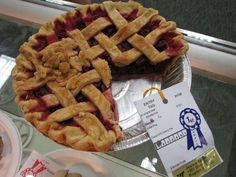 """This Recipe For """"Red Cherry Pie"""" Won The Blue Ribbon In The Cherry Pie Category ~ 2014 Kentucky State Fair"""