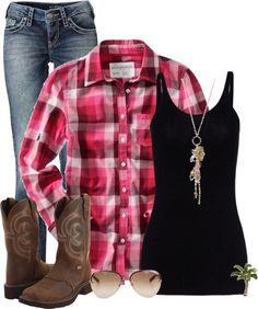 camisas con vaqueros y botas guay