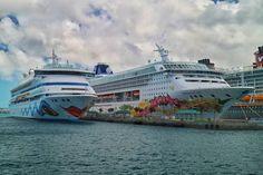 AIDAvita & Norwegian Sky at the harbour of Nassau!