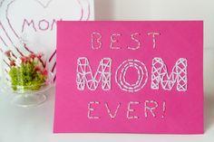 DIY Embroidered Mother's Day Cards | Karen Kavett
