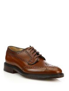 CHURCH'S Leather Brogue Derbies. #churchs #shoes #flats